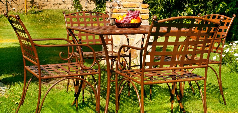 Arca muebles y forja for Muebles de forja para jardin